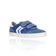 Geox - Canvas & Suede Off White Velcro Boys Sneakers - WHIZZKID.COM