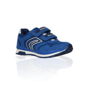 Geox - Blue Mesh & Suede Velcro Trainers For Boys - WHIZZKID.COM