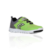 Boy's Geox Mesh Lime & Grey Sneaker