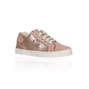 Geox - Kiwi Metallic Rose Lace Up Girls Sneakers - WHIZZKID.COM