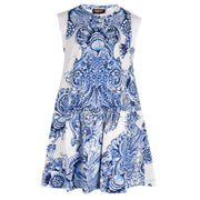 Girl's Roberto Cavalli Decorative Tiles All Over Dress