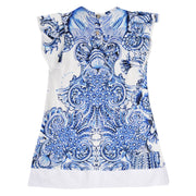 Girl's Roberto Cavalli Decorative Tiles Dress