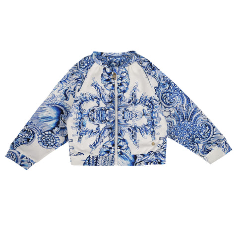 Girl's Roberto Cavalli Fullzip Sweatshirt All Over Print