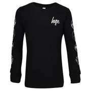 Unisex Hype Logo T-shirt  Black/White