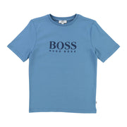 Boy's Hugo Boss Pale Blue Short Sleeves T-Shirt