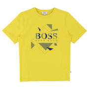 Boy's Hugo Boss Yellow Short Sleeve T-Shirt