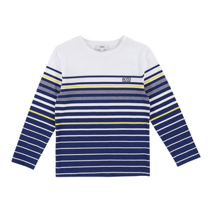 Boy's Hugo Boss Blue Long Sleeve T-Shirt