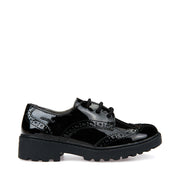 Girl's 's Geox J Casey Black Shoes