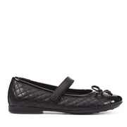 Girl's Geox Plie Black Shoes