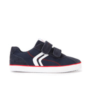 Boy's Geox Navy & Red Canvas Shoes