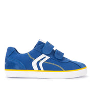 Boy's Geox Blue & Yellow Canvas Shoes