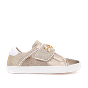 Girl's Geox Gold Strap Trainers