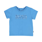 Boy's Hugo Boss Pale Blue Short Sleeves Tee-Shirt