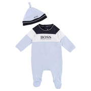 Boy's Hugo Boss Set Pyjamas + Pull On Hat Pale Blue