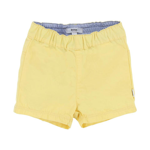 Boy's Hugo Boss Navy and Yellow T-Shirt and Shorts Set
