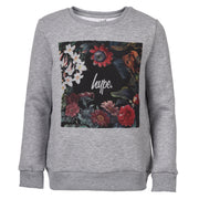 Unisex Hype Floral Box Crewneck Grey
