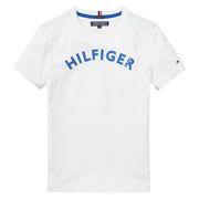Boy's Tommy Hilfiger Big Logo Tee Short Sleeve Bright White