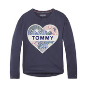 Girl's Tommy Hilfiger Long Sleeve Logo Navy T-Shirt