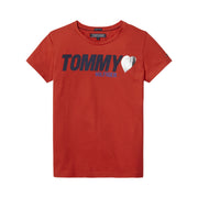 Girl's Tommy Hilfiger AME Tommy Heart Short Sleeve T-Shirt