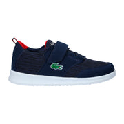 Boy's Lacoste L.Ight Navy/Red Trainers