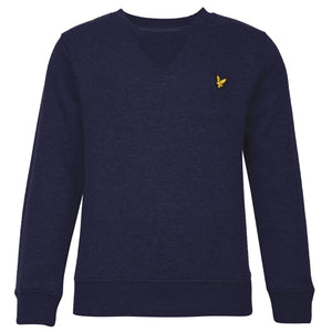 Lyle & Scott - Boys Plain Crew Neck Fleece Deep Indigo - WHIZZKID.COM