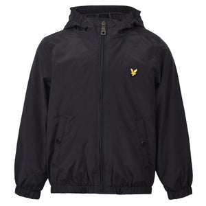 Boy's Lyle & Scott Core Windcheater Zip Through Hoodie Jacket True Black