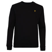 Lyle & Scott - Boys Plain Crew Neck Fleece True Black - WHIZZKID.COM