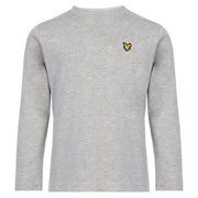 Lyle & Scott - Boys Vintage Grey Heather Long Sleeve T-Shirt - WHIZZKID.COM
