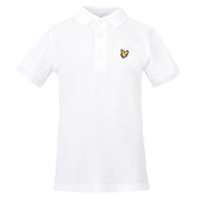 Boy's Lyle & Scott Core Classic Polo Marl Bright White