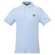 Boy's Lyle & Scott Classic Polo Marl Powder Blue Marl