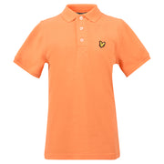 Boy's Lyle & Scott Classic Polo Marl Orange Peel Marl