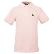 Boy's Lyle & Scott Classic Polo Marl Dusty Pink