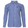 Lyle & Scott - Boys Gingham Check Shirt True Blue - WHIZZKID.COM