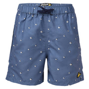 Boy's Lyle & Scott Beachball Print Swimshort Mist Blue