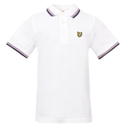 Boy's Lyle & Scott Plain Tipped Polo Bright White