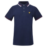 Boy's Lyle & Scott Plain Tipped Polo Navy