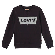 Boy's Levi's Black Sweatshirt With Levis Logo On Chest