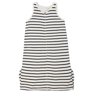 Petit Bateau - Unisex Cream vest body with navy stripes - WHIZZKID.COM