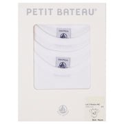 Petit Bateau - Unisex White short sleeve body - 2 pack - WHIZZKID.COM