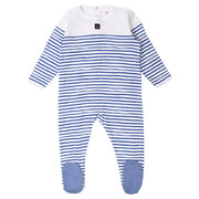 Petit Bateau - Boys White body with navy stripes - WHIZZKID.COM