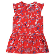 Petit Bateau - Girls Pink flower all over print dress - WHIZZKID.COM