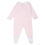 Petit Bateau - Girls White baby body with pink polka dots - WHIZZKID.COM