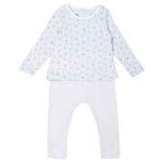 Petit Bateau - Unisex blue all over print top and bottoms - WHIZZKID.COM