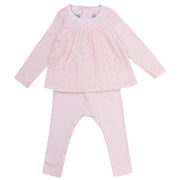 Petit Bateau - Girls Pink all over print top with leggings - WHIZZKID.COM