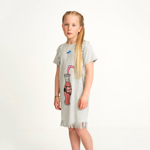 Girl's Soft Gallery Ayse Grey Melange Dress