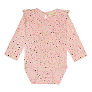 Girl's Soft Gallery Annie All Over Print Shimmer Bodysuit