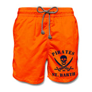 Boy's Mc2 Saint Barth Black Pirates Swim Short