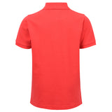 Core Pique Polo In True Red