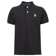 Core Pique Polo In True Black