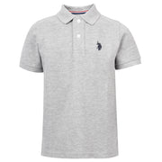 Core Pique Polo In Vintage Grey Heather